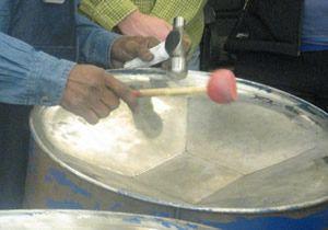Steel pan drum making
