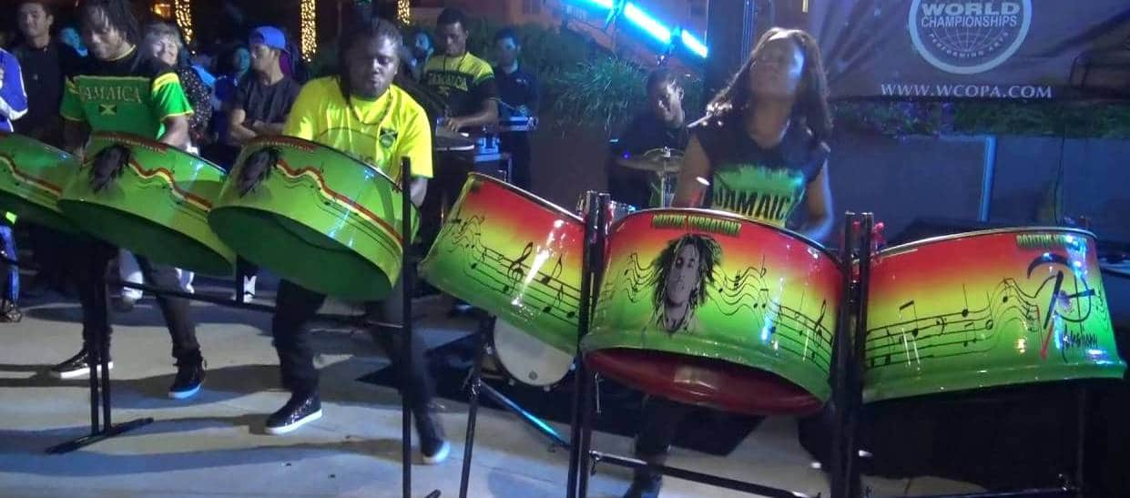 Jamaican steel drums